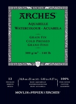 PAD ARCHES® WC COLD PRESSED 300gsm A5 12SHT  (139465)