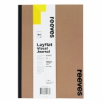 REEVES LAYFLAT VISUAL JOURNAL A4 30 SHEETS 110GSM PERFORATED PAGES KRAFT COVER  15087