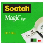 TAPE SCOTCH MAGIC 18MMX33M BOXED 15107