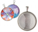 JEWELLERY PENDANT CABOCHON SILVER SETTING PACK OF 30 14366