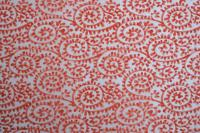 TISSUE TRANSFER RED PAISLEY (55cm x 36cm)