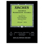 PAD ARCHES WATERCOLOUR CP 185gsm A5 15SHT 141111 (replaces 04756)