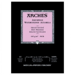 PAD ARCHES WATERCOLOUR SMOOTH 185gsm A4 15SHT 141112 (replaces 04757) *** NEW***