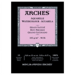PAD ARCHES WATERCOLOUR SMOOTH 185gsm A5 15SHT 141109 (replaces 04754) ***NEW*** *Back to College Sale*