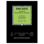 PAD ARCHES WATER COLOUR COLD PRESSED 185gsm A3 15SHT (139987)