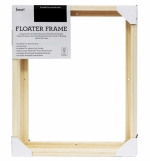 JASART FLOATER FRAME THICK EDGE 12X16INCH NATURAL 15056 * While Stocks Last*