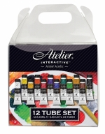 ATELIER ARTIST ACRYLIC PAINT TUBE SET 12 X 20ML